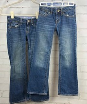 Gap Kids Girl's Jeans Flap Pockets Boot Cut Size 8 - Lot of 2 - $33.66