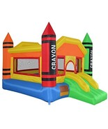 Cloud 9 Mighty Bounce House - Mini Crayon - Inflatable Kids Jumper with ... - $577.20