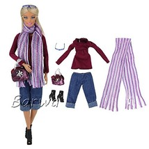 BARWA Evening Wedding Party Clothes Casual Dress Outfit Set for 11.5 Inc... - $10.05