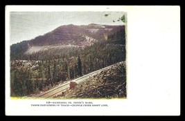 St Peters Dome Postcard Colorado Cripple Creek Railroad Track Short Line... - $15.99