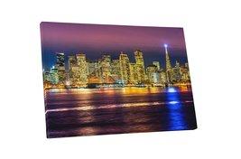 """Pingo World 0901Q1WM5DM """"San Francisco Downtown Night Skyline"""" Gallery W... - $158.35"""