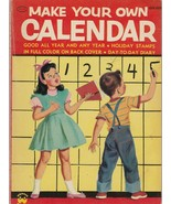 Make Your Own Calendar by Winifred Greene 1955 Wonder Books Vintage Pape... - $14.84
