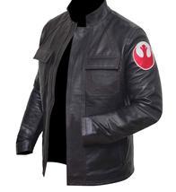 Star Space Hero Dameron Brown Isaac Real Leather Wars Jacket image 3