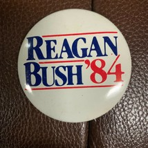Vintage Authentic Political Pin 1984 Ronald Regan Reagan Bush 84 Campaig... - $8.41