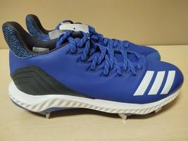 Adidas Men's Baseball Icon Bounce Cleats Royal blue New Size 9 CG5243 - $46.55