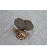 Vintage SARAH COV SIlvertone Two Faux Coins with Dangles Scarf Clip – ma... - $8.59