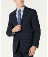 Calvin Klein Men's Long Sleeve Buttoned Stretch Plaid Suit Jacket (Blue,... - $54.46