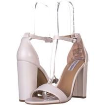 Steve Madden Carrson Ankle Strap Dress Sandals 627, White, 10 US - $37.43