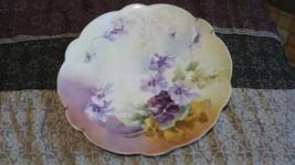 "Antique Limoges France Plate. 12.5""Wide Floral . Excellent - $29.69"