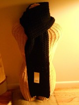 """UGG® Australia Cardy Large Cable Stitch Scarf 80"""",Black, MSRP $149 - $74.81"""