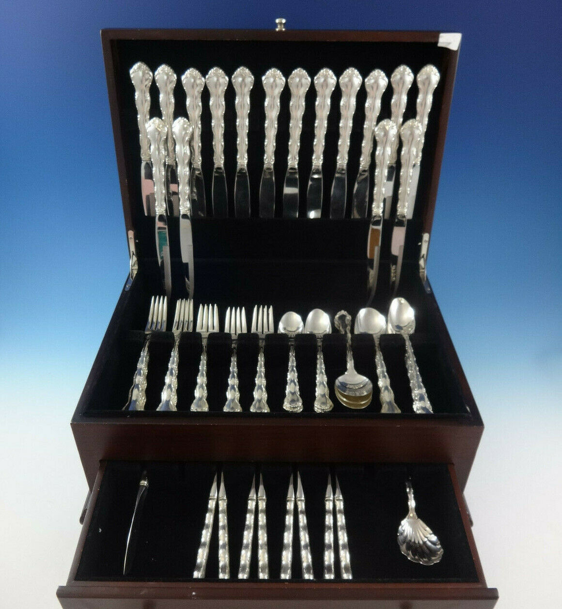 Primary image for Tara by Reed and Barton Sterling Silver Flatware Set For 8 Service 66 Pieces