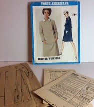Vogue Americana Sewing Pattern 1784 Chester Weinberg 16 Vtg 1967 One Pc ... - $40.87