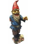 PTC 11.75 Inch Scary Zombie Garden Gnome with One Arm and Skull Statue - $29.69