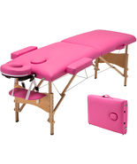 "Pink 84""L Portable Fold Massage Table Facial SPA Beauty Bed Tattoo With ... - $62.95"