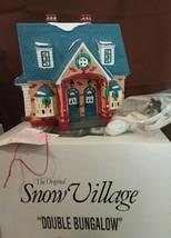 Dept 56 Original Snow Village 1991 DOUBLE BUNGALOW 54070 Retired 1994 - $26.00