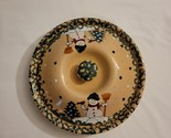 Country Snowman Stoneware Covered Dessert - $24.00