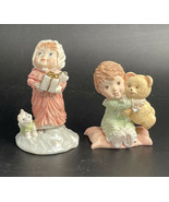 HALLMARK ~ Pair Of MARY And Friends Figurines 1989 Gentle And Christmas - $8.86