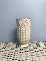 "Lenox Fleur De Lis Collection 7 1/2"" Pierced Vase with Platinum Trim - $23.00"