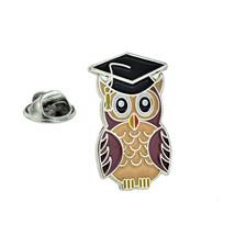 Owl School Graduation design tie pin, Lapel Pin Badge, in gift box get your owls