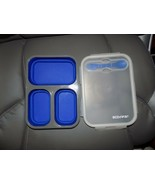 BPA-Free ECO ONE Collapsible 3 Section BENTO BOX Lunch Storage Silicone ... - $20.00