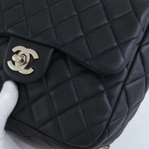 AUTHENTIC CHANEL QUILTED BLACK LAMBSKIN BACKPACK BAG GHW image 5
