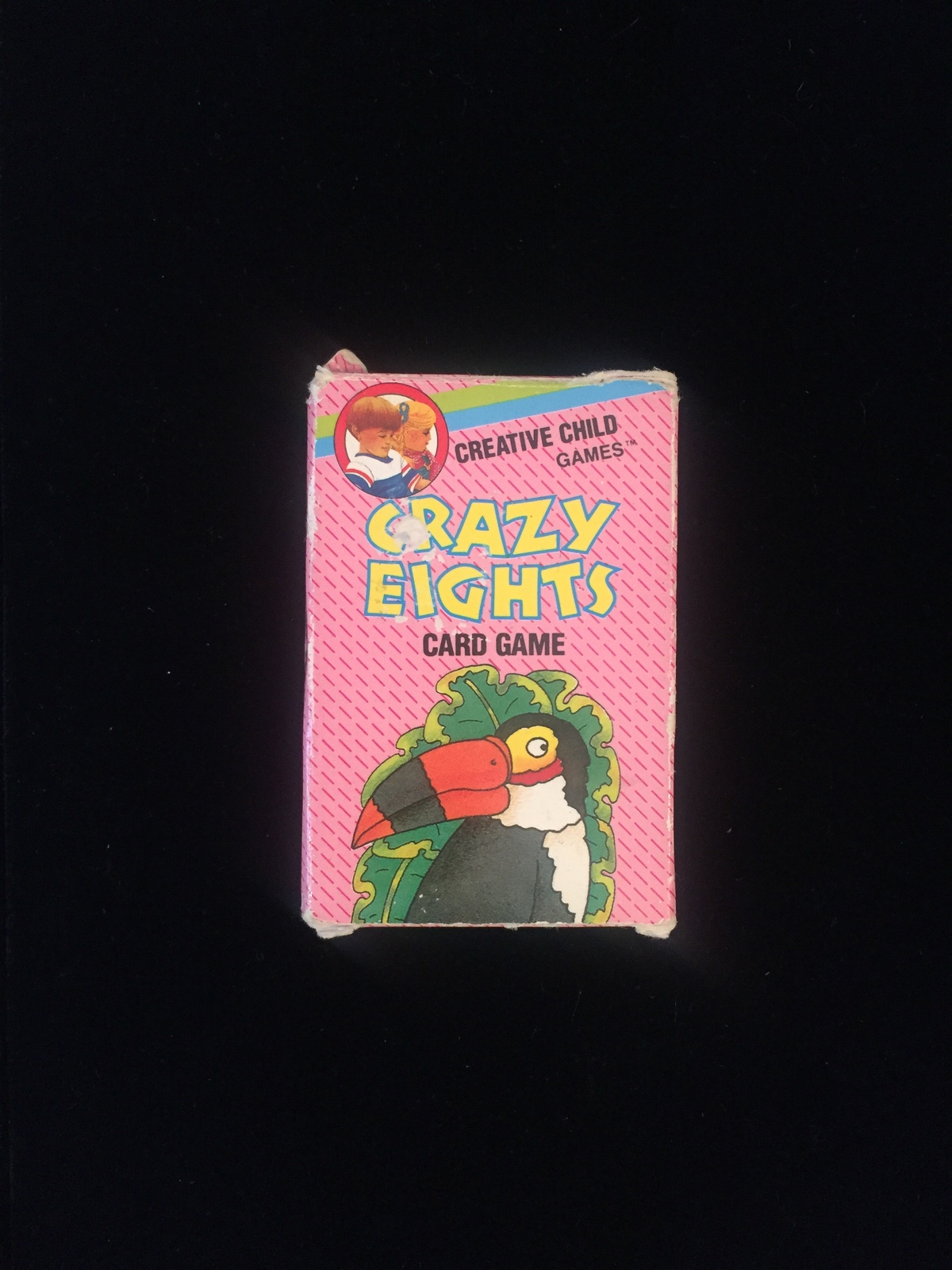 Vintage 80s Creative Child Games card game: CRAZY EIGHTS