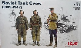 ICM  1/35 Kit 35181, 3 Soviet Tank Crew  Figures (1939-1942) image 1