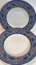 Blue Mosaic 5 Rim Soup Bowls Handcrafted Italy (Pier 1 Imports) - $58.41