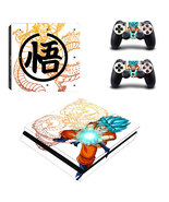 Dragon Ball Z PS4 Slim Console Dualshock Controllers Skin Vinyl Decal St... - $12.50