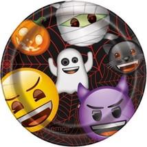 "Emoji Halloween 8 Ct Paper 9"" Lunch Dinner Plates - £2.80 GBP"