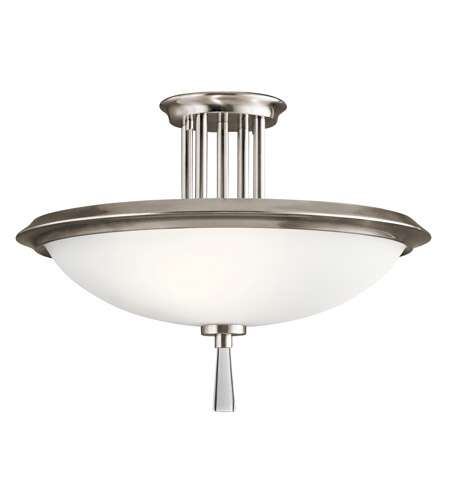 Primary image for Kichler 43960CLP Dreyfus Semi Flush 17in Classic Pewter Steel 3-light