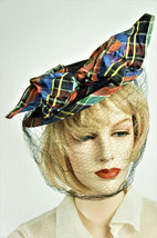 30s Tilt Hat / Antique Straw and Satin Hat BEAUTIFUL / 1933 Straw Fashio... - $92.00