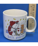 Russ Berrie Lets Party Coffee Mug Cup Bulldog Dog Drinking a Beer - $9.89