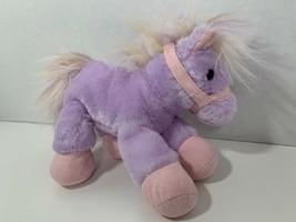 Aurora plush purple lavender pink fantasy pony horse stuffed toy - $5.93