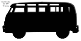 Bus Silhouette Laser Cut Out 7x15 - $19.80