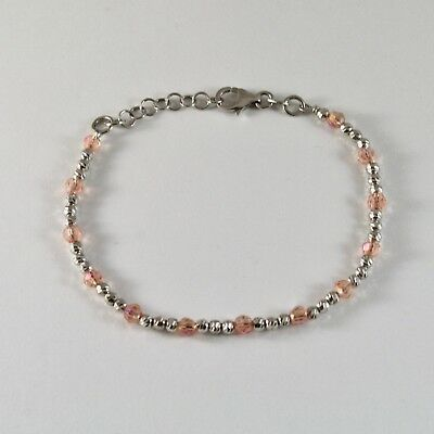 Silver 925 Bracelet Rhodium with Balls Faceted & Cubic Zirconia