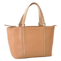 BURBERRY Nova Check Hand Bag Beige Leather Auth rd337 - $160.00