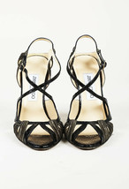 Jimmy Choo Snakeskin Leather Strappy Sandals SZ 38 image 2