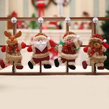 Santa Claus Snowman Tree Toy Doll Hang Merry Christmas Ornaments Christm... - $0.60+