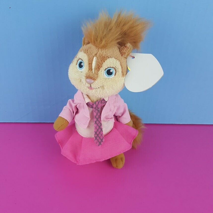 Ty Beanie Brittany Plush Alvin & Chipmunks The Squeakquel 2012 Pink Outfit