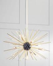 Horchow Gold Sputnik Chandelier Starburst Orbit Mid Century Modern New XL $1100 - $891.01