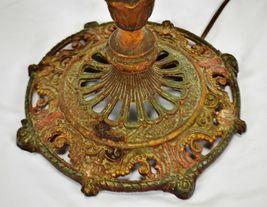 Vintage Art Deco Metal Floor Lamp with Dual Fixture image 11
