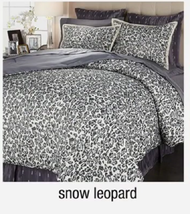 Richard Mishaan Chenille 6-piece Comforter Set, Snow Leopard ,Size Queen... - £60.66 GBP