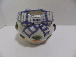 Fitz & Floyd FF Petits Vegs Small Bowl Candle Holder Blue Ribbon Vegetables - $460,72 MXN