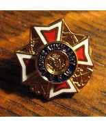 VFW Ladies Auxiliary Lapel Pin - Vintage Veterans Of Foreign Wars USA Mi... - $19.79