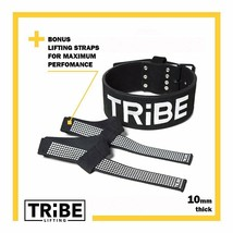 "TRIBE Small Weight Lifting  Leather Belt Suede Black - 4"" - 10mm thick - $10.86"