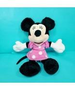 "Disney Minnie Mouse Poseable Pink Polka Dot Doll 13"" Stuffed Animal Plus... - $19.79"