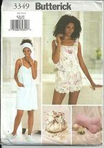 Butterick 3349. Misses Towel Wrap, Slippers, Head Wrap, Pillow, Camisole, Shorts - $7.91