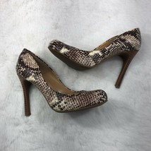 Jessica Simpson Snake skin High Heel Pumps Round Toe Stiletto Heel Size ... - $19.24