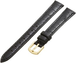 Hadley Roma LS717 12mm Regular Black Crocodile Grain Stitched Ladie... SHIPSFREE - $15.86
